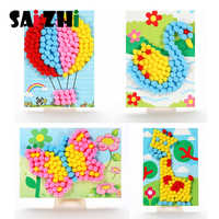 Saizhi Child Toy DIY Hairball Sticky Paper Painting Kindergarten Toy Material Package Children Toy Toys Girl Crafts SZ3613