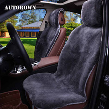 Car-Seat-Cover Front-Seat-Protector Auto-Interior-Accessories AUTOROWN Soft Sheepskin