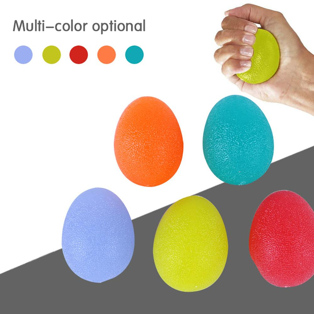Silicone Egg Hand Gripper Strengths Stress Relief Power Ball Finger Exercise Training Fitness Hand Exerciser