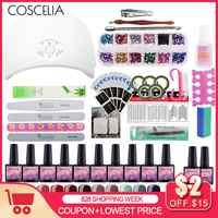 Full Manicure Set With Lamp 24/36W Gel Nail Polish Set Tools For Manicure Set For Nail 10pc Gel Polish All For Manicure Nail Art