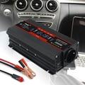 Инверсор 12v постоянного тока до 220v 2000 Wгенератор 220 вольт прочный ЖК-дисплей Дисплей двойной с 2 портами (стандарт ЕС Автомобильный инвертор т...