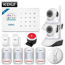 KERUI W18 433MHz 4 dil güvenlik Alarm sistemi kablosuz 1.7 inç IOS/Android APP kontrol Wifi GSM ev hırsız alarmı takım elbise