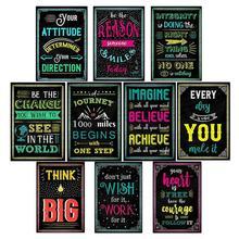 Мотивационные классная комната, для стен Плакаты вдохновляющие цитаты для студентов, учитель классная украшения