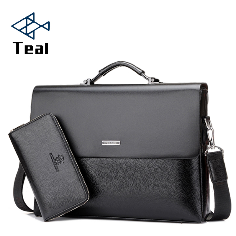 Men's Briefcase Portfolio Men's Bag Over The Shoulder Laptop Bags Pu Leather Shoulder Bag Office Belt Bag Messenger