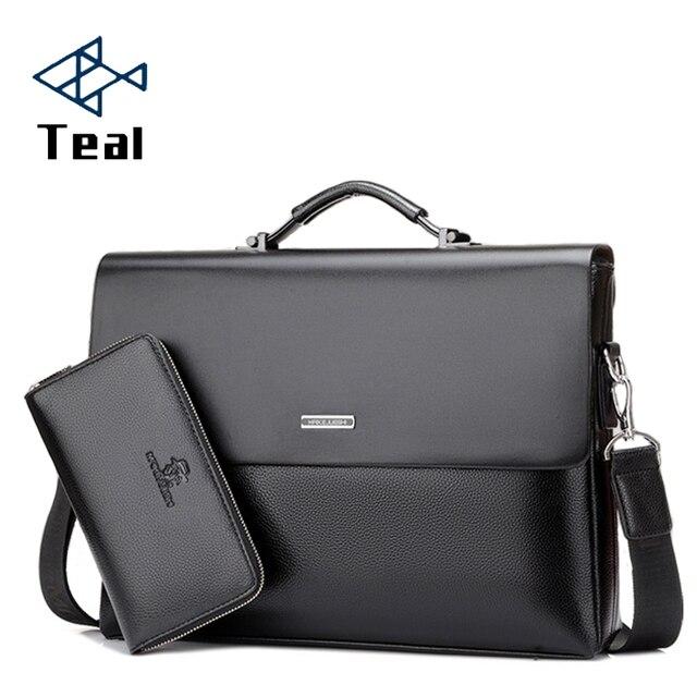 Mens Briefcase Portfolio Mens bag over the shoulder Laptop bags pu Leather Shoulder bag office Belt bag Messenger