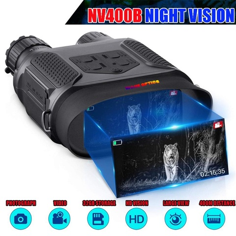 nv400b digital visao noturna binocular ir led camorder 3 5x 7x zoom mini dispositivo de