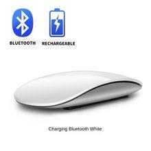 Bluetooth5.0 arco sem fio toque mouse mágico ergonômico ultra fino recarregável mouse óptico mause para apple macbook mice