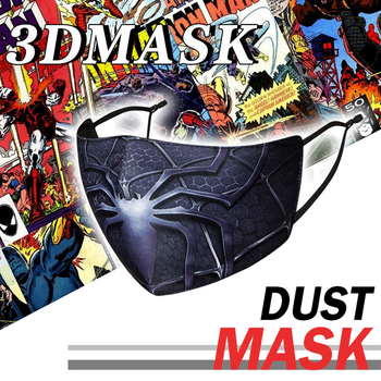 2pec Mascarilla kpop Washable Fabric Cloth Face Masks With Design Fashion Protection Mouth Masks Adult Summer Hero Cubre Boca