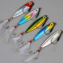 5pcs Japan Fishing Jig Lure 10 g/15g/20g Metal Vib Spoon Bait Saltwater Jigging Fishing Tackle Wobblers jigs de pesca de mar