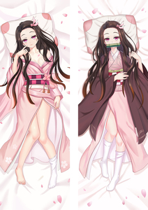 Japanese Anime Dakimakura Demon Slayer: Kimetsu no Yaiba Hugging Body Pillow Case Kamado Nezuko Otaku Costume Cover(China)