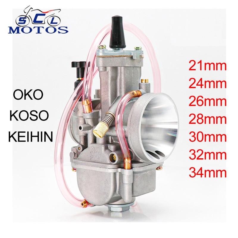 Sclmotos- PWK 21 24 26 28 30 32 34 мм KEIHIN KOSO Карбюратор Carb с силовой струей 2T 4T для Yamaha для Kawasaki Cafe Racer мопед
