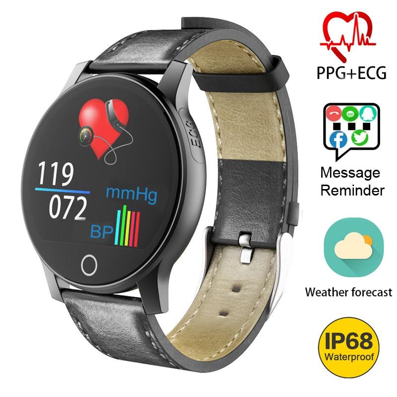 New Men Women Smart Watch 1 3 Inch ECG PPG Monitor HR Blood Pressure GPS WristBand
