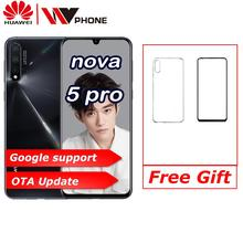 """화웨이 노바 5 프로 6.39 """"OLED 전체 화면 지원 NFC 2340*1080 옥타 코어 3500mAh 5 카메라 슈퍼 충전"""