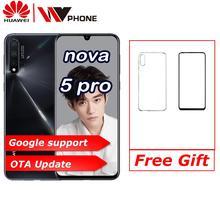 """Huawei Nova 5 Pro 6.39 """"OLED tam ekran desteği NFC 2340*1080 Octa çekirdek 3500mAh 5 kameralar süper şarj"""