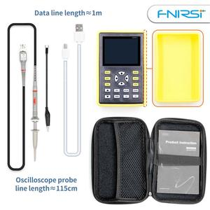 Image 2 - FNIRSI 5012H 2.4 인치 스크린 디지털 오실로스코프 500 메터/초 샘플링 속도 100 mhz 아날로그 대역폭 지원 파형 저장 장치