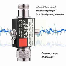 Ca-23Rs N Male To N Female Arrester Diamond Coaxial Surge Protector For Outdoor Antenna House Safety Supplies Accessories R3Y6