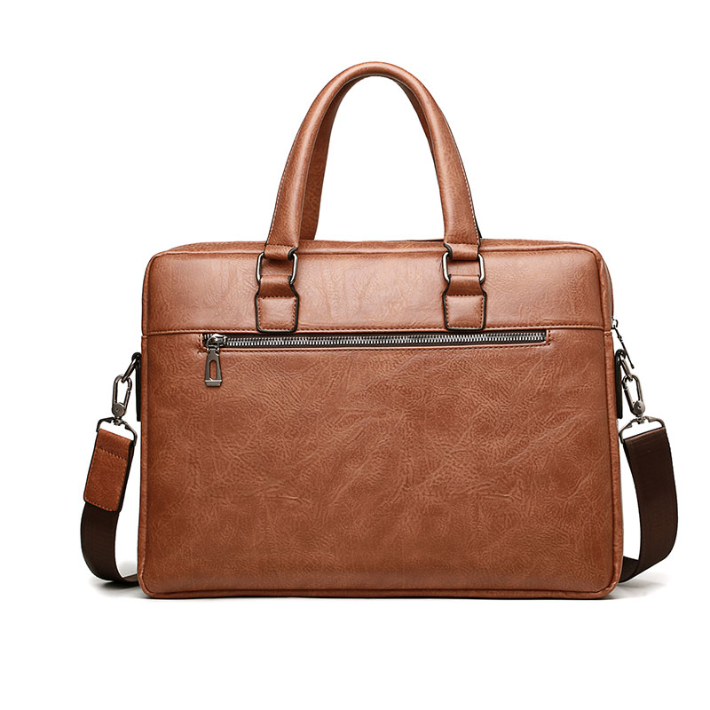 Sac à main Vintage en cuir PU pour hommes, sacoche à bandoulière pour ordinateur portable, mallette décontractée