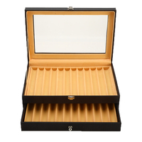 PU Leather Pen Case 24 Pens Fountain Pen Display Case Holder Storage Collector Organizer Box Slot 4 Colors for choose