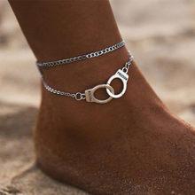 Vintage punho tornozeleira prata cor dupla camada anlet pulseira presente para amigo atacado dropshipping