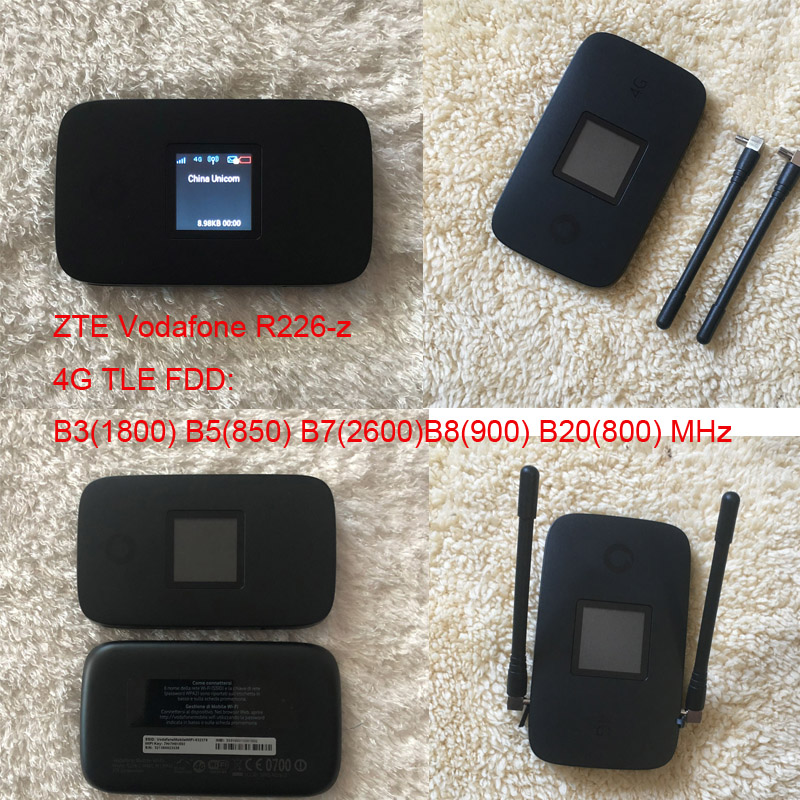 Unlocked ZTE Vodafone  R226-z 4G LTE 300Mbps Mobile Hotspot Pocket Router
