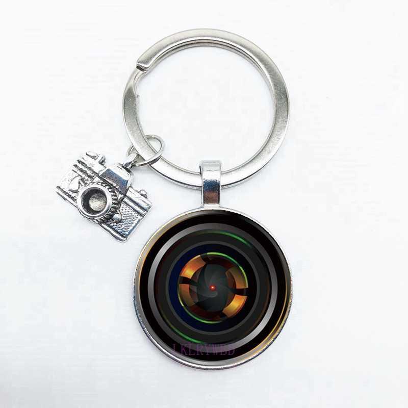 2020 SLR عدسة المفاتيح SLR زجاج عدسة قلادة المفاتيح قلادة الكاميرا مصور صور المتحمسين حلقة رئيسية هدية