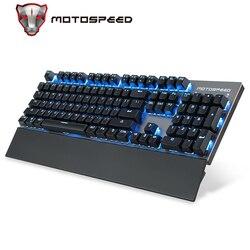 Motospeed-Teclado mecánico GK89, Bluetooth 2,4 ghz, USB, 104 teclas con retroiluminación RGB, teclados inalámbricos para juegos