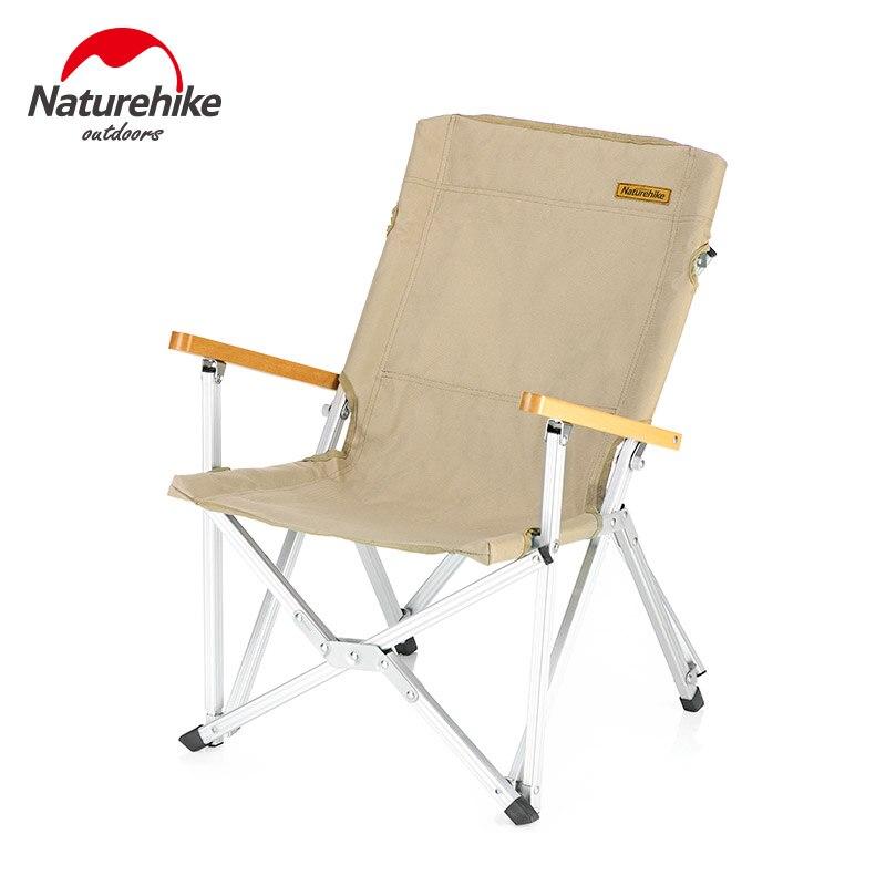 Naturehike Dobrável Cadeira Durável Portátil Camping Caminhadas Liga De Alumínio Pólo Encosto de Viagem Piquenique Ao Ar Livre Pesca NH19JJ004 - 2