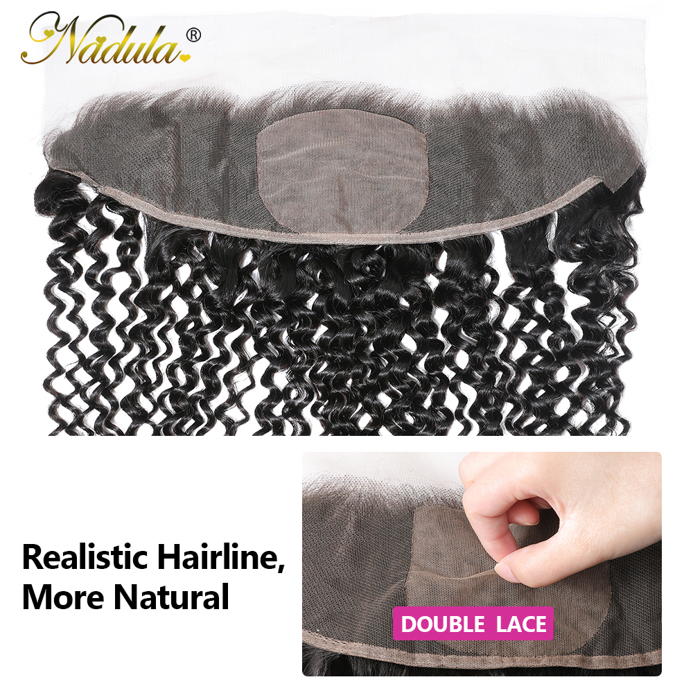 Nadula Hair  Body Wave Frontal Closure 100%  Frontal 13x4 Lace Frontal With Pre Plucked 4x4 Silk Base 3