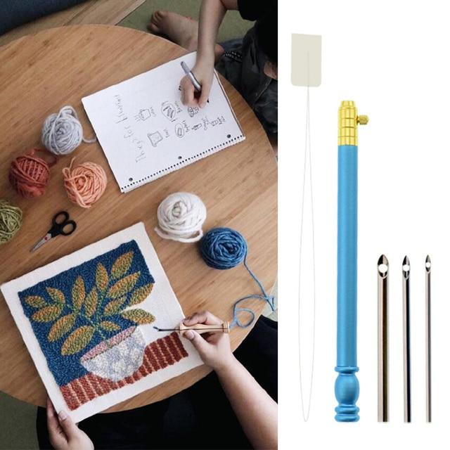 Bricolage couture ergonomique broderie réglable maison facile appliquer pour fil fil piquer amusant outil poinçon aiguille ensemble Portable Art artisanat