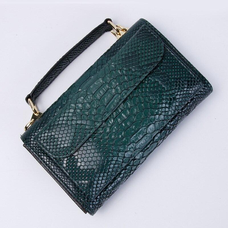Image 4 - Real Python Snake Skin Designer Shoulder Bags Chain Crossbody Bag 2020 New Fashion Trendy BagShoulder Bags   -