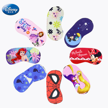 Disney Sleeping Child Eye Mask Ice Silk Siesta Marvel Cartoon Shade Eye Mask Send Ice Bag Children Birthday Gift mack s shut eye shade premium sleeping mask