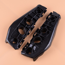 DWCX 1 Pair Black Plastic Front Bumper Support Spacer Bracket Frame Panel 5211602130 5211502130 Fit For Toyota Corolla 2009 2010