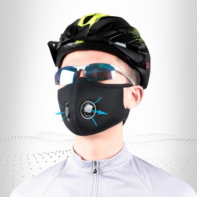 Dust-proof Cycling Face Mask PM 2.5 Sport Face Mask Anti-Pollution Running Training Bike Cycling Mask Washable 2