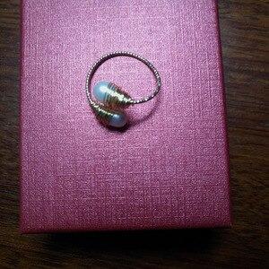 Image 5 - YKNRBPH Womens Natural pearl Ring Adjustable light luxury Versatile Temperament 14k HandWound Jewelry Ring