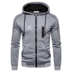 2020 novo outono dos homens alpinestar jaquetas moda alpine estrela com capuz jaqueta casual casaco com capuz zip casaco de lã sportwear