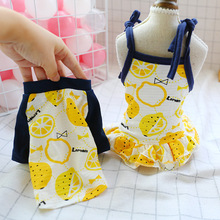 Dog Dress Cool Lemon Couple Dresses Spring Summer Pets Outfits Clothes For Small Party Skirt Puppy Pet Costume