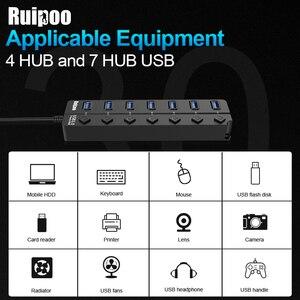 Image 5 - USB Hub 3.0 High Speed 4 / 7 Port USB 3.0 Hub Splitter On/Off Switch with EU/US Power Adapter for MacBook Laptop PC HUB USB 3.0