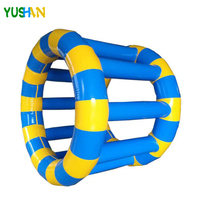 1.5m Dia inflatable Water Park Games Rental colorful Inflatable Water Wheel, Water Inflatable Roller With air pump For Public