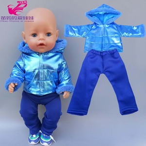 43cm new born Baby Doll hooded coat for bebe doll clothes 18 Inch American OG girl Doll jacket girl toys clothes(China)