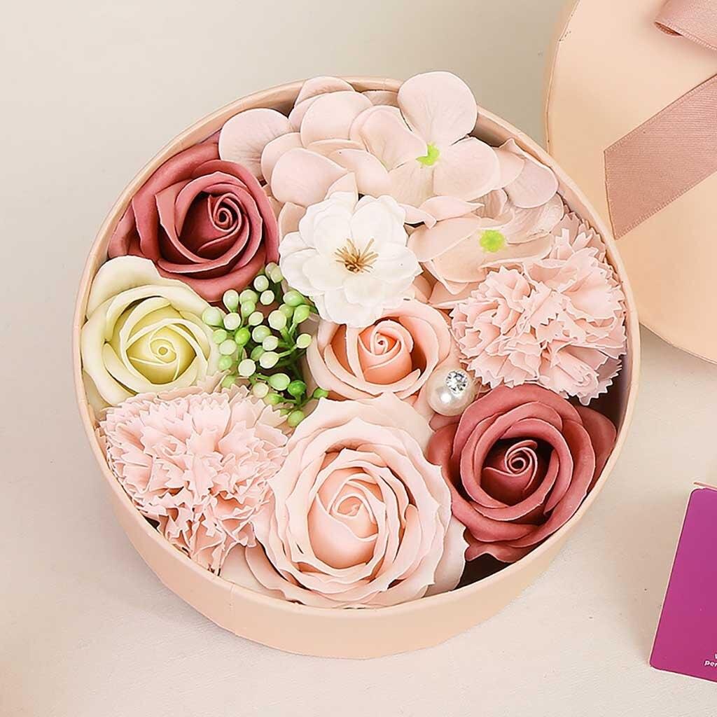 Valentine/'s Day Soap Flower Gift Rose Box Bouquet Wedding Festival Gift Decor