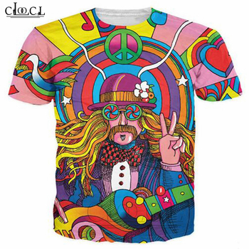 New Hippie Musician T-Shirt 3d Colorful A Groovy Hippie Unisex T Shirt Summer Fashion T Shirt Tops B32