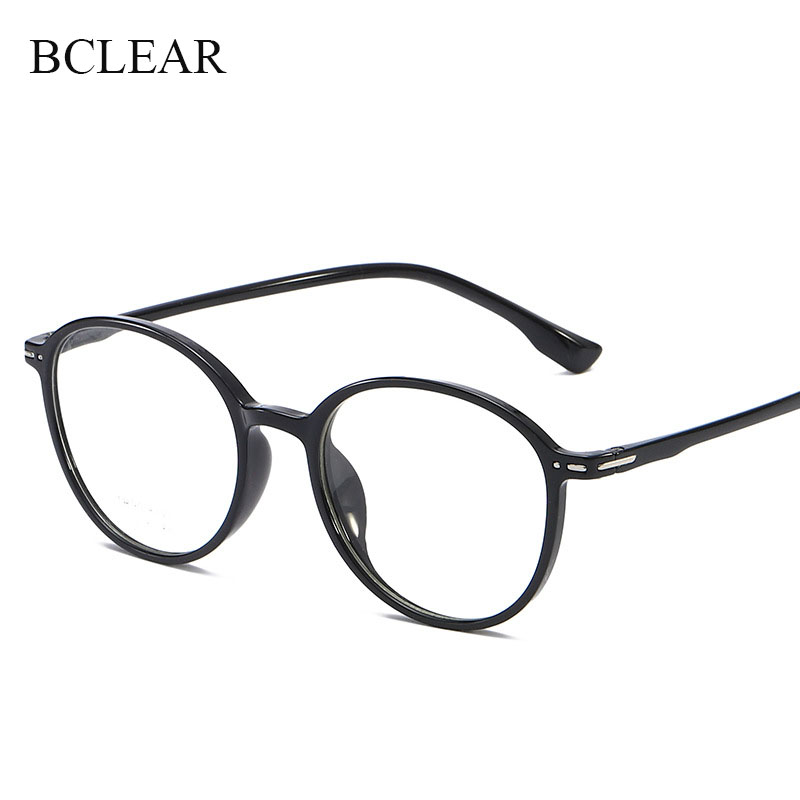 Vintage Retro Round Eyeglasses Frame Transparent Color TR90 Spectacles Frames Women Men Prescription Glasses Optical Eyewear Hot