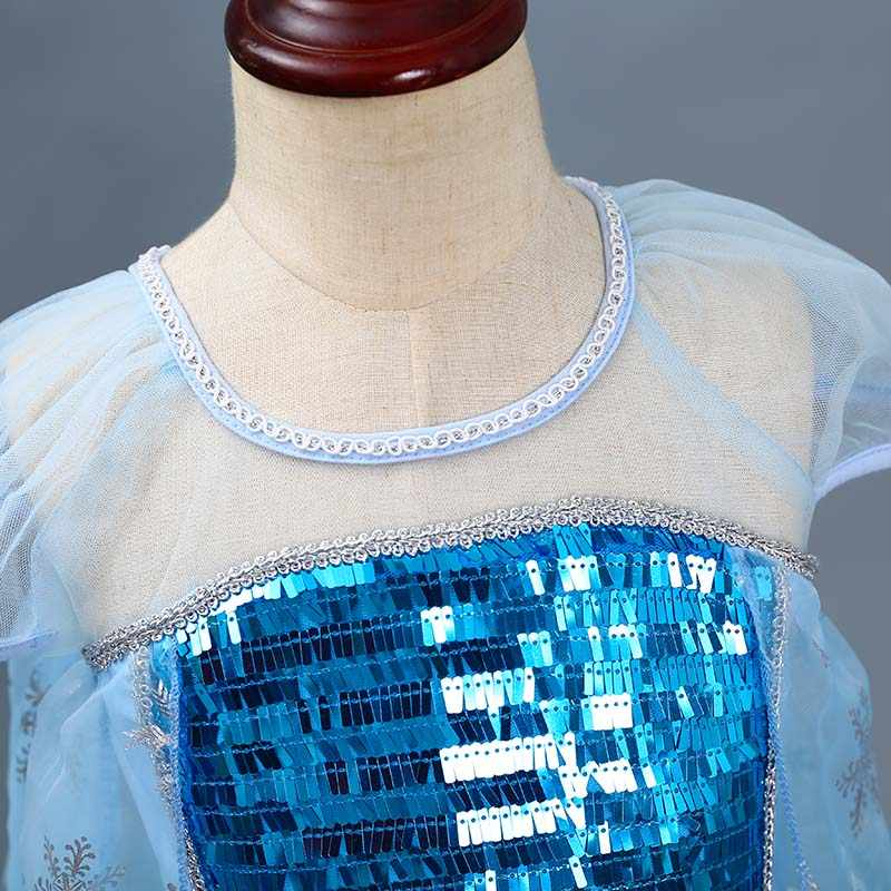 Công Chúa Bé Gái Elsa Anna Đầm Trẻ Em Nữ Hoàng Tuyết Elza Trang Phục Trẻ Em Carnival Giáng Sinh Sinh Nhật Quần Áo Nữ Tay Ngắn
