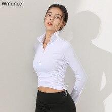 Yoga-Shirt Tight Gym-Wear Waist-Sports-Top Fitness Long-Sleeves Slim-Workout Sexy Women