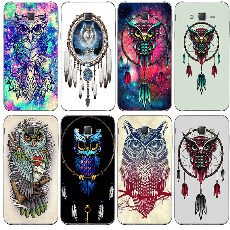 Dream Catcher Owls Art Soft TPU <font><b>Mobile</b></font> Phone <font><b>Cases</b></font> Cover for <font><b>Samsung</b></font> Galaxy A3 A5 A7 A8 J1 J3 J4 J5 J6 <font><b>J7</b></font> J8 2015 2016 <font><b>2017</b></font> 2018 image