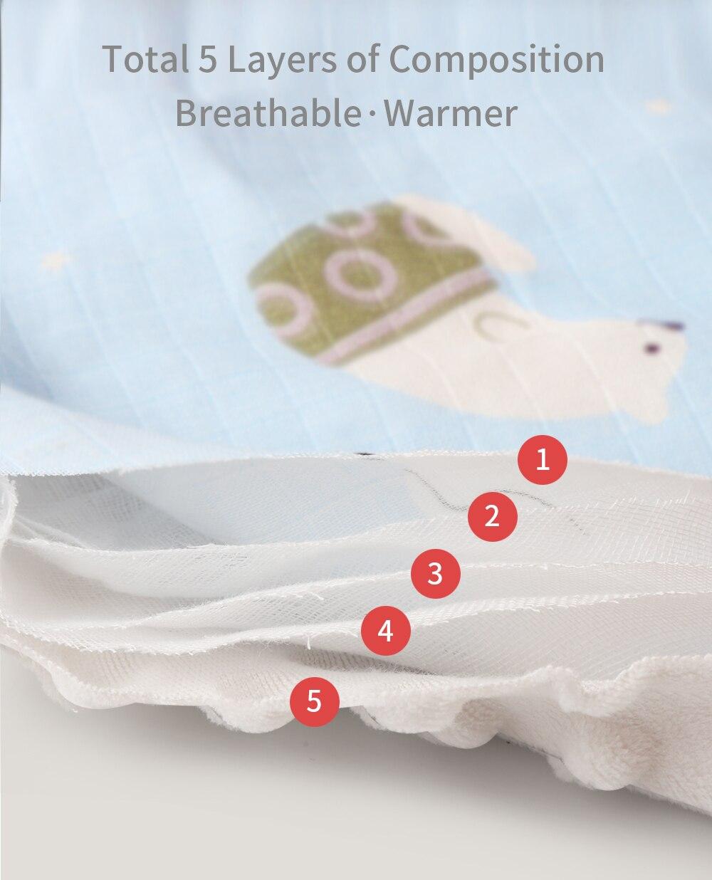 4 camadas de musselina algodão cobertor do