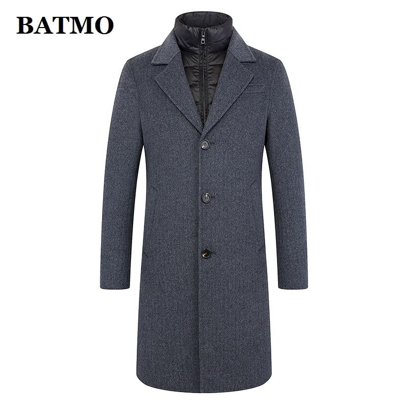 BATMO 2019 new arrival autumn&winter 100% wool jackets men,men's wool coat,plus-size M-5XL FND902