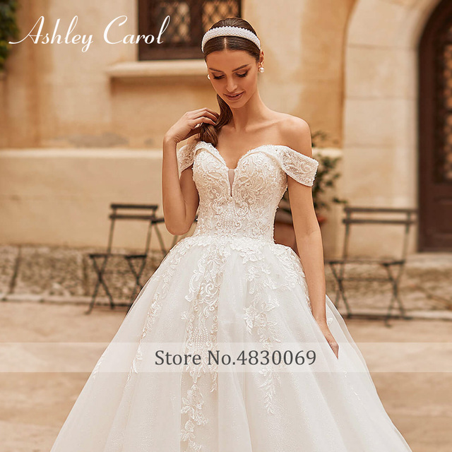 Ashley Carol Princess Wedding Dress 2021 Elegant Sweetheart Bride Beaded Embroidery Lace Up A-Line Bridal Dresses Robe De Mariee 5