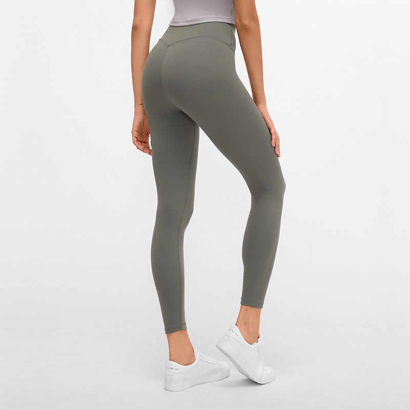 Kobiety energii w czterech kierunkach elastyczne legginsy wysokiej talii maślany miękkie Fitness legginsy sportowe lekkie dostosowanie spodnie do jogi siłownia legginsy