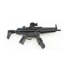 Масштаб 1:6 MP5 Submachine Gun Сборная модель огнестрельного оружия пазл для 1/6 солдат военное оружие строительные блоки для мальчиков лучший подаро...